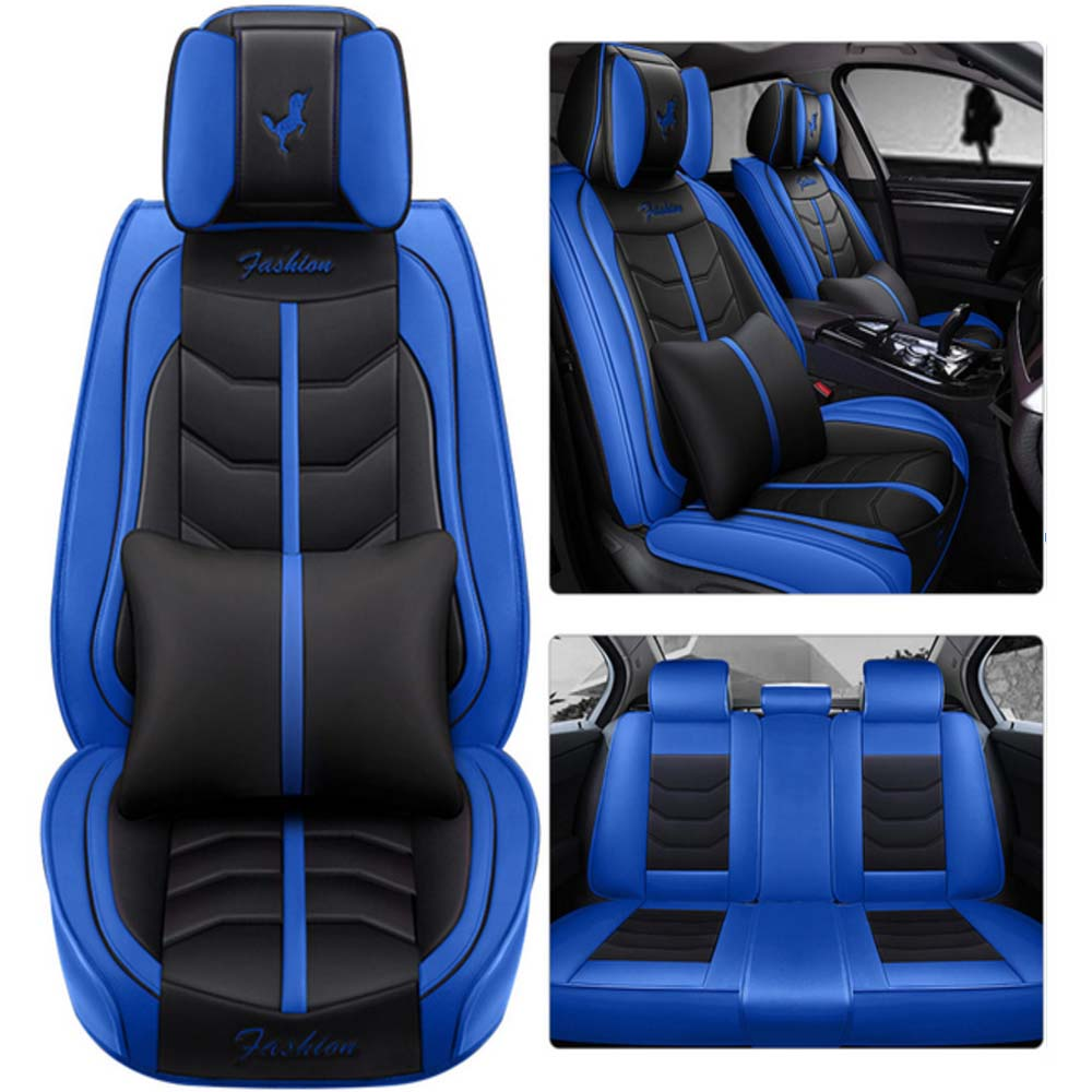 5pcs 3D Luxury Car / SUV / Small Truck Seat Covers Full Set with Waterproof Leather, Airbag Compatible, 5 Seat Cover